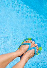 feet in a swimming pool